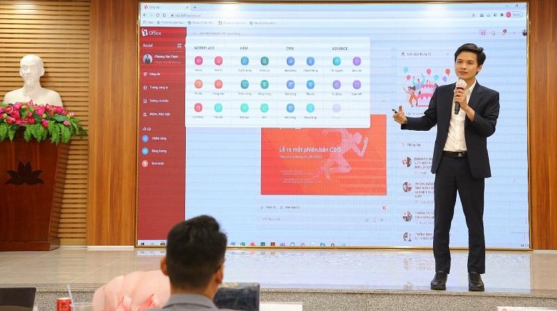 Ông Kỳ Đặng - Giám đốc chi nhánh HCM 1Office chia sẻ kinh nghiệm về chuyển đổi số trong quản trị doanh nghiệp