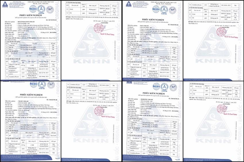Phiếu kiểm nghiệm các sản phẩm tại Mr Sheeo do Sở Y tế Hà Nội cấp