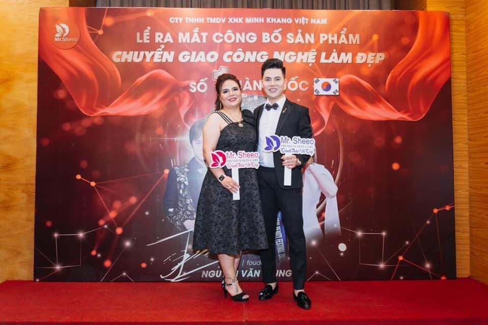 Boss Nguyễn Văn Trung và CEO Lê Bảo Bảo của Mr Sheeo tại sự kiện