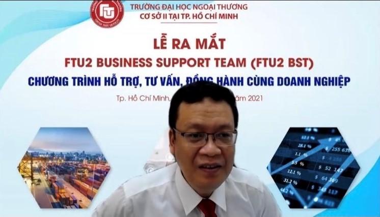 PGS, TS Nguyễn Xuân Minh – Giám đốc Cơ sở II phát biểu tại buổi Lễ